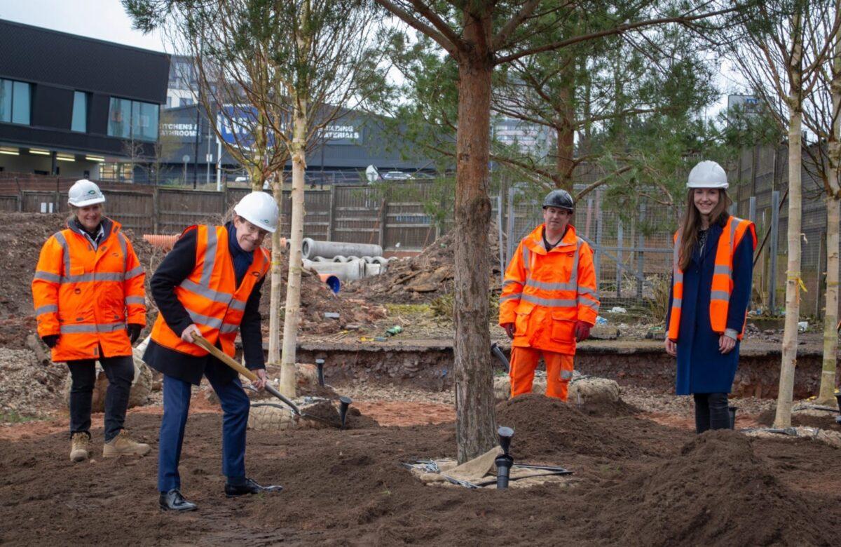 Tree planting starts in Urban Park